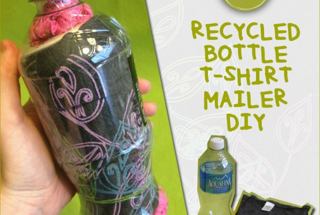 share t shirt mailer 640x430 - 13 Oz or Less - A Recycled Bottle Mailer DIY