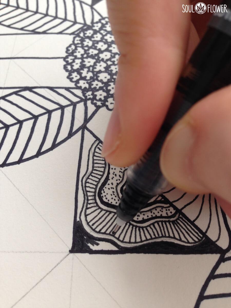 soul flower hand drawn designs - Behind the Art: Sacred Place Mandala
