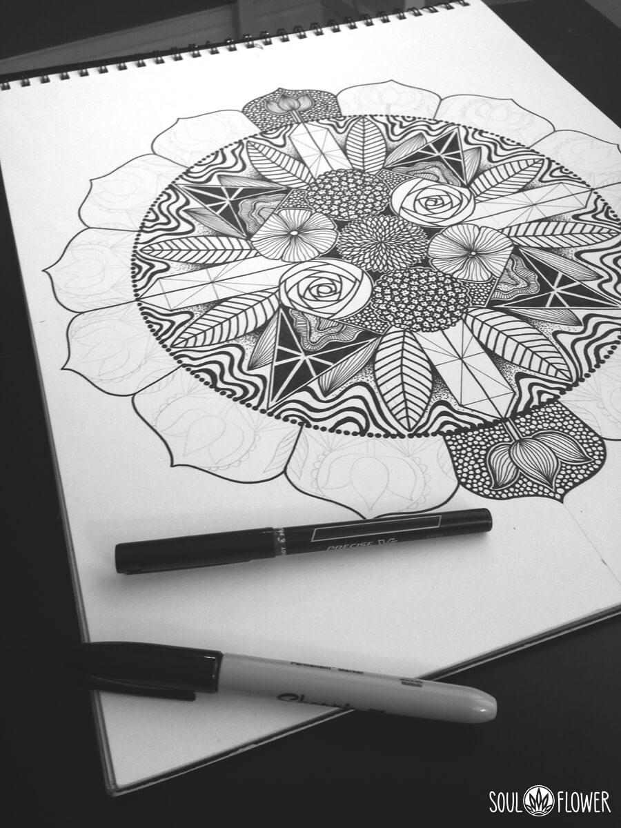 soul flower original art - Behind the Art: Sacred Place Mandala