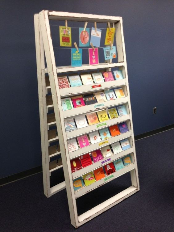 Sticker Display Ideas - DIY Sticker Display Ideas - card stand