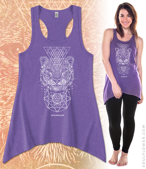 Soul Flower Tarot Tank: Warrior | Organic Cotton and Recycled Polyester, Made in the USA