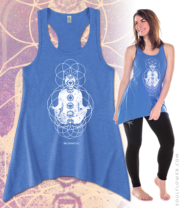 Soul Flower Tarot Tank: Blissful | Organic Cotton and Recycled Polyester, Made in the USA