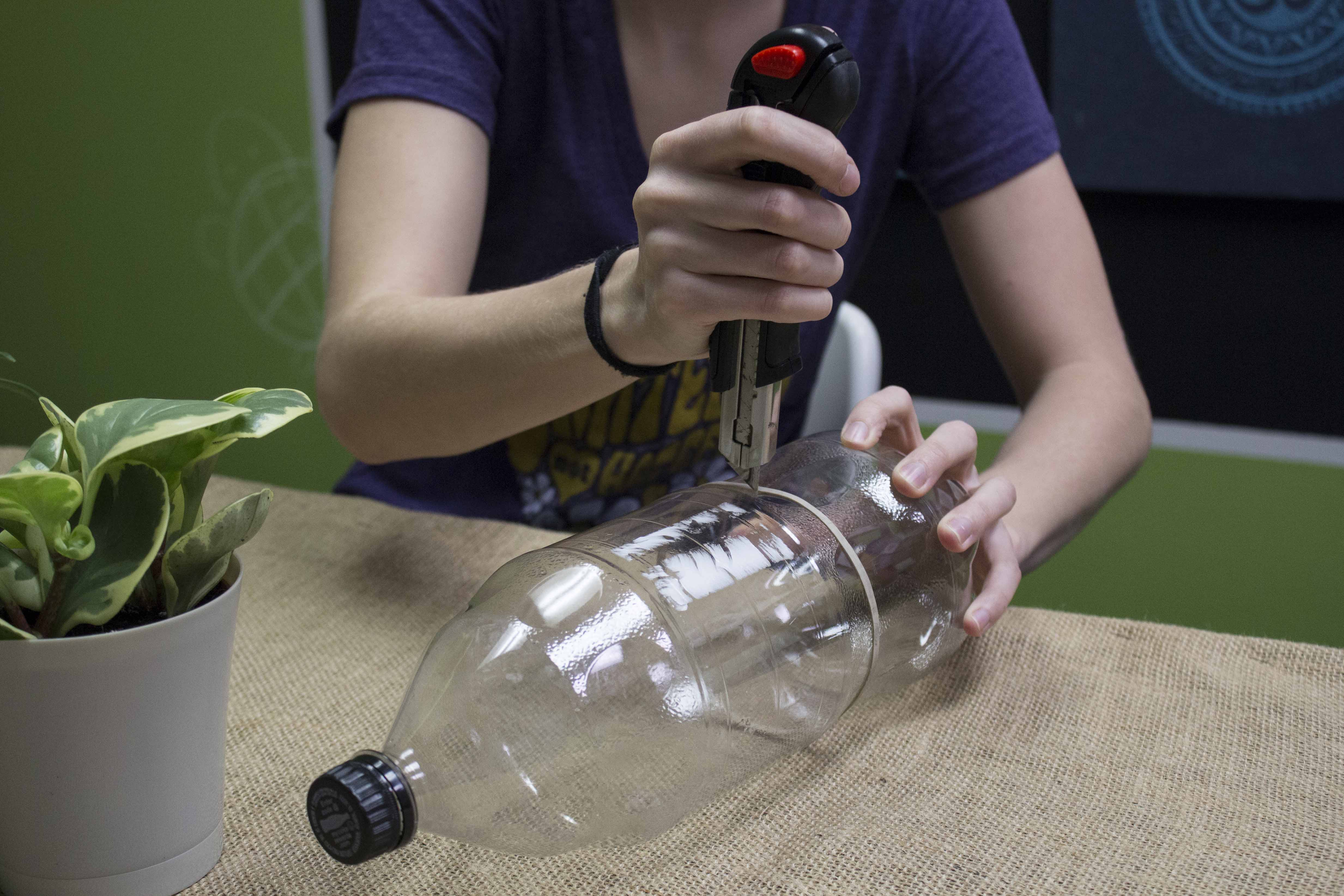 Recycled Plastic Bottle Terrarium - Soda Bottle Terrarium