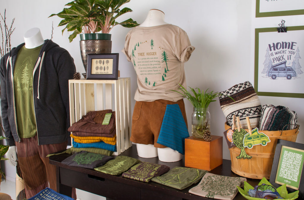 treehugger merchandising display18 1 1024x674 - More Tree Please! Merchandising Display