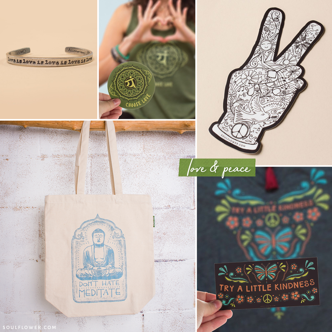 vegan gifts love peace good vibes - Vegan Gift Ideas - Vegan Holiday Gifts