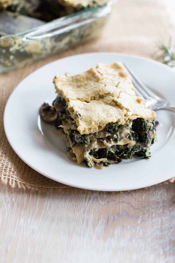 vegan thanksgiving kale lasagna - 20 Vegan Recipes for a Thanksgiving Feast