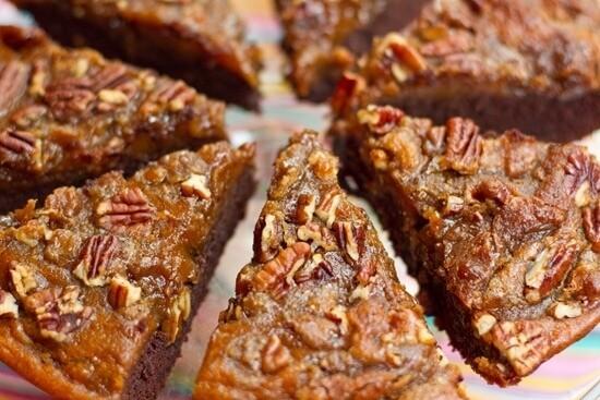 vegan thanksgiving pumpkin brownie1 - 20 Vegan Recipes for a Thanksgiving Feast