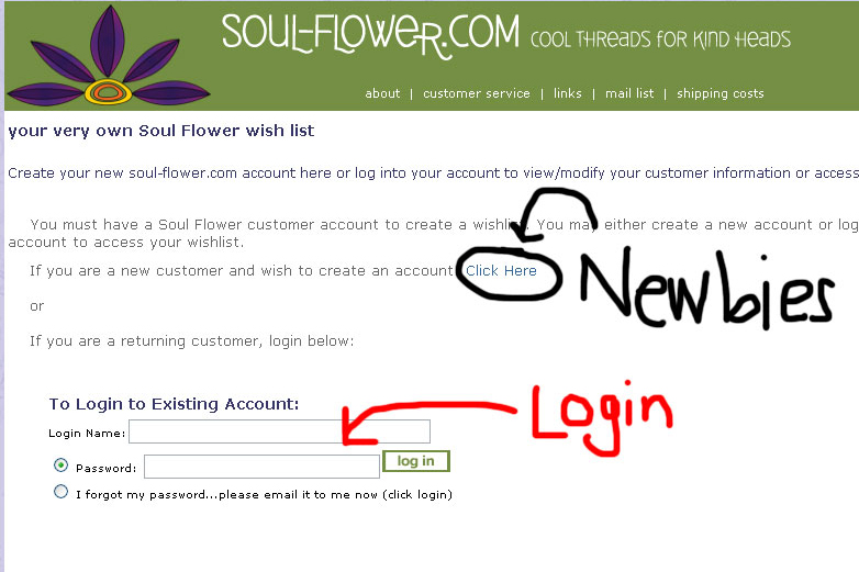 3 wishlist login - How to Create a Wishlist on Soul-Flower.com