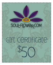 Win a $50 Gift Certificate to Soul-flower.com!