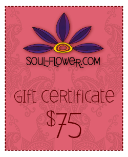 Win a $75 Gift Certificate to Soul-flower.com!