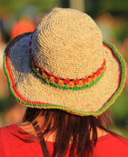Rasta Stripe Hemp Hat