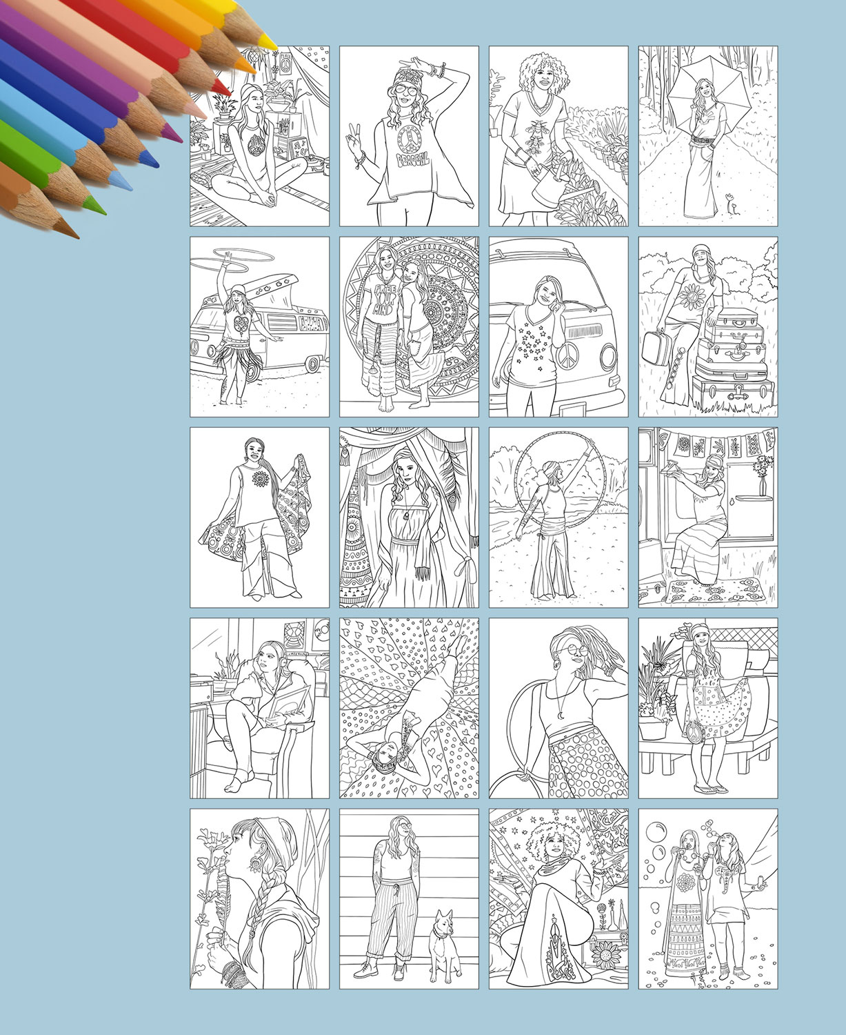 Hippie Art Worksheets | Printable Worksheets and Activities for ... | 1500x1227