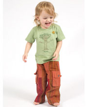 A Day at the Beach Kids' Patchwork Pants