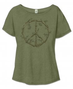 NEW! Slouchy Driftwood Peace Sign T-Shirt